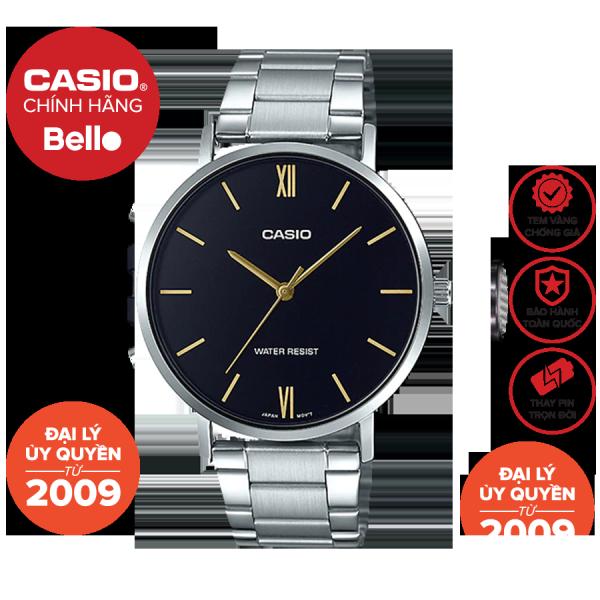 Đồng hồ Nam dây thép Casio MTP-VT01D chính hãng bảo hành 1 năm Pin trọn đời