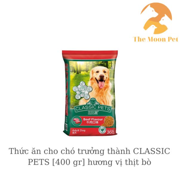 Thức ăn cho chó trưởng thành CLASSIC PETS [400 gr] hương vị thịt bò