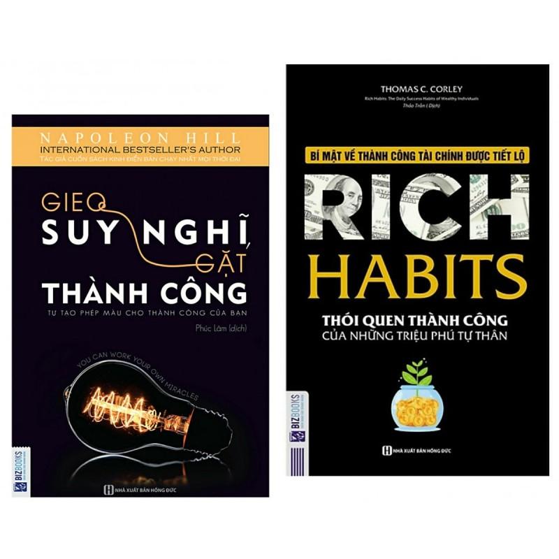 Combo 2 Cuốn Sách : Rich Habits - Thói Quen Thành Công Của Những Triệu Phú Tự Thân + Gieo Suy Nghĩ Gặt Thành Công - Tự Tạo Phép Màu Cho Thành Công Của Bạn - ( 2 Cuốn Sách Tạo Lập Thói Quen Để Thành Công ) - (Tặng Kèm Bookmark