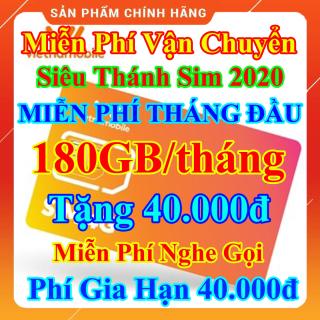 [FREESHIP] Siêu Thánh Sim 4G Mới Vietnamobile - Miễn Phí 180GB Tháng - Miễn Phí Tháng Đầu - Tặng 40.000đ - Nghe Gọi Nội Mạng Miễn Phí - Phí Gia Hạn 40.000đ - Sim Trọn Đời - Shop Lotus Sim Giá Rẻ 1