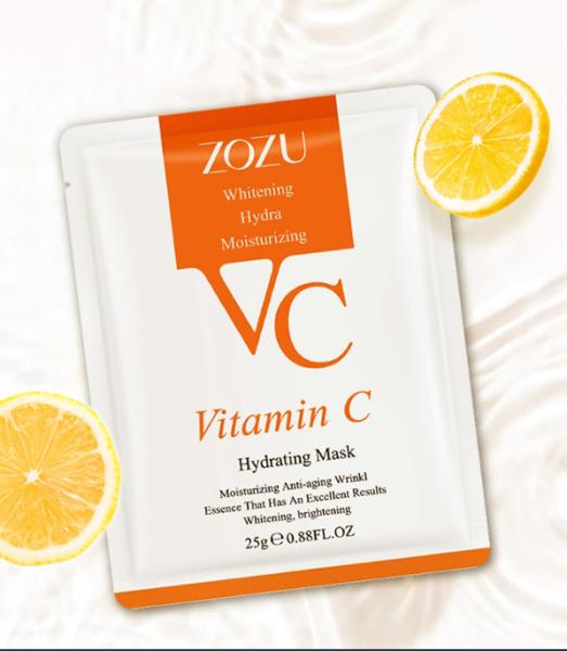 1 miếng mặt nạ vitamin C cô đặc ZOZU dưỡng ẩm và làm trắng da. Điều chỉnh da mặt trở nên trắng sáng trong suốt mịn màng mềm mại ẩm và giảm nếp nhăn - Giới hạn 10 sản phẩm/khách hàng giá rẻ