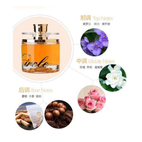 [HCM]Nước hoa Circle 60ml Nước hoa nữ eau de Circle Vàng trắng và Hồng - Hương CỏThơm nhẹ lưu luyến và quyến rũ nhập khẩu