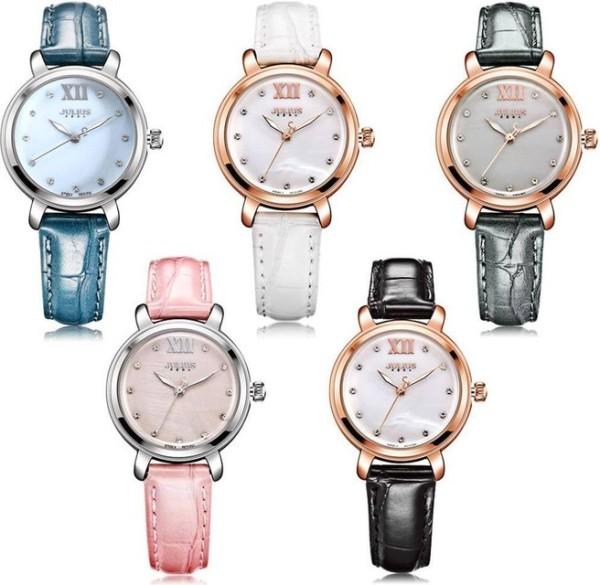Đồng hồ nữ Julius Hàn Quốc chính hãng Ja-945 dây da