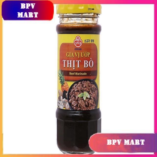 Gia vị ướp thịt bò hũ 240g - OTTOGI - NƯỚC ƯỚP THỊT NƯỚNG HÀN QUỐC - XỐT ƯỚP THỊT NƯỚNG - SỐT BBQ - BPMart