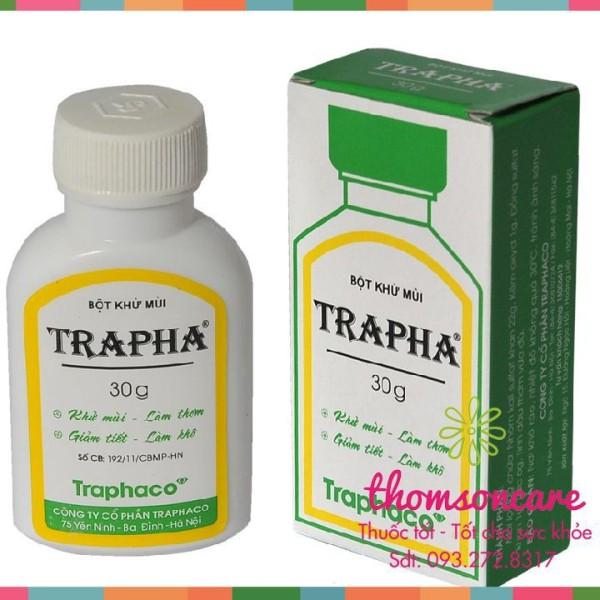 Khử mùi hôi chân hôi nách Trapha 30g - chính hãng Traphaco - chính hãng sản phẩm có nguồn gốc xuất xứ rõ ràng sử dụng dễ dàng cam kết hàng nhận được giống với mô tả