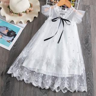 Nileates Quần Áo Dễ Thương Cho Bé Gái Đầm Xòe Công Chúa Lưới Ren Hoa Đầm Đám Cưới Khoét Lỗ Cho Trẻ Em Đầm Mùa Hè Cho Bé Gái Giảm Giá
