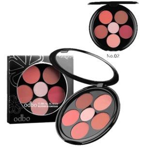 Phấn Ma Hô ng 6 ô ODBO Floral Beauty Blusher & Contour (OD161) thumbnail