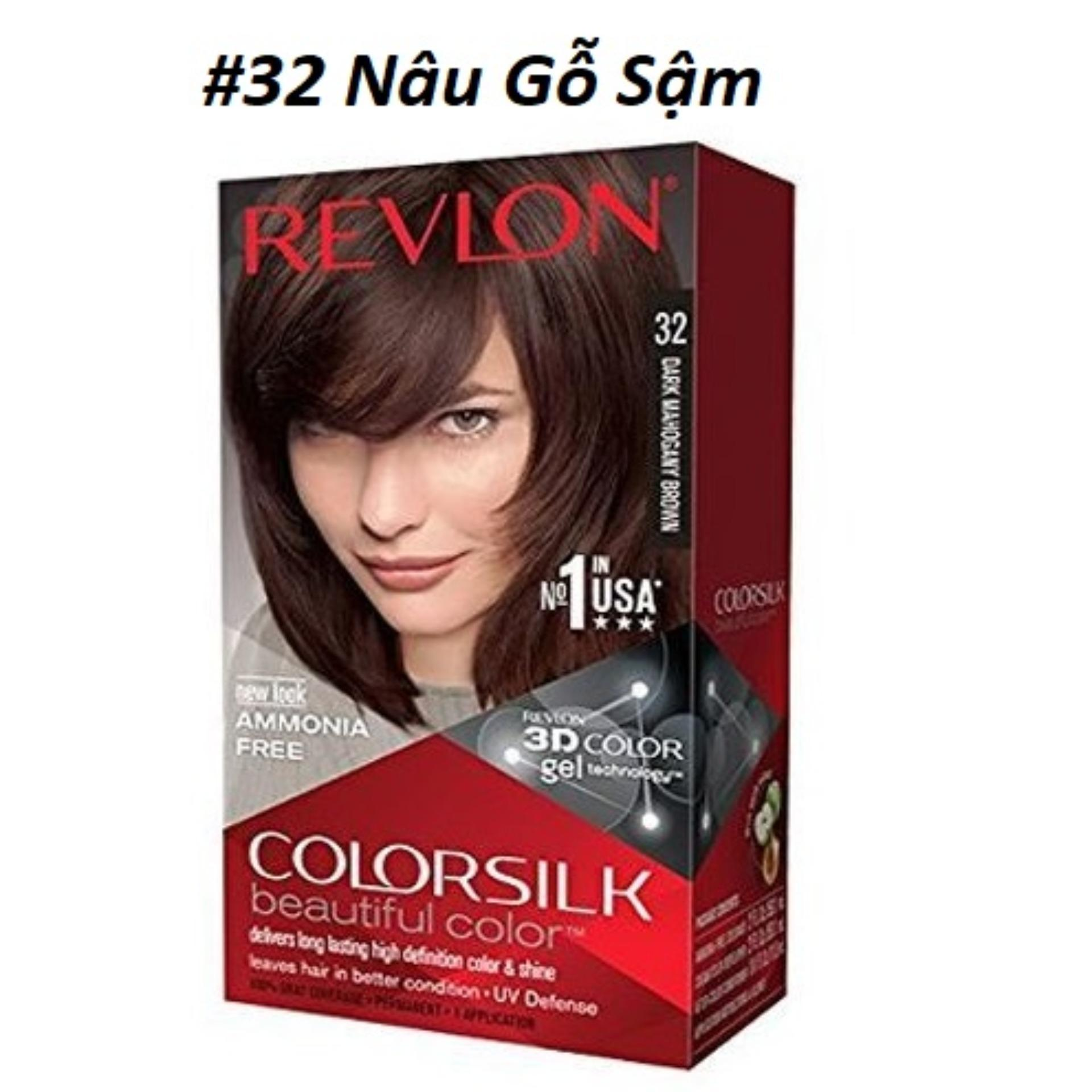 THUỐC NHUỘM TÓC REVLON 3D COLOR SILK 130ml nhập khẩu