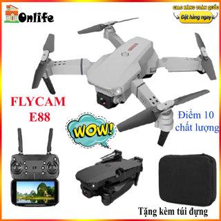 flycam, máy bay điều khiển từ xa có camera E88 Flycam E88 Pro 4K 2 camera Wifi, live came máy bay, may bay 4 canh co camera, flycam có camera, điều khiển bằng điện thoại thumbnail