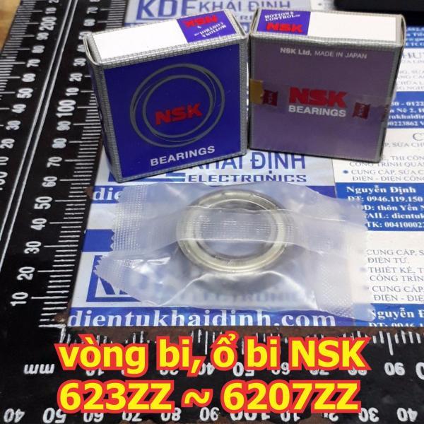 vòng bi, ổ bi, bac dan NSK 623ZZ 624ZZ 625ZZ 626ZZ 627ZZ 628ZZ 629ZZ hàng tốt, chụi mài mòn, tốc độ cao kde6030