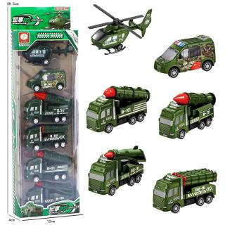 Đồ chơi mô hình ô tô, máy bay công trình xây dựng, quân đội phát triển kỹ năng nhận biết cho bé - Bộ 6 chiếc gutymart thumbnail