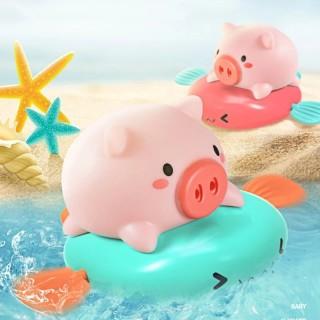 Đồ chơi thả bồn tắm, đồ chơi nhà tắm phun nước hình heo và bò vặn cót đáng yêu đủ màu sắc cho bé thumbnail