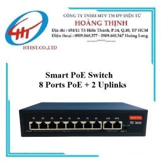 Switch chia mạng Smart 8 Port POE + 2 Uplink 10 100Mbps - SP000834 - Hàng chính hãng ( gia CHƯA BAO GÔ M VAT nê u xuâ t ho a đơn) thumbnail