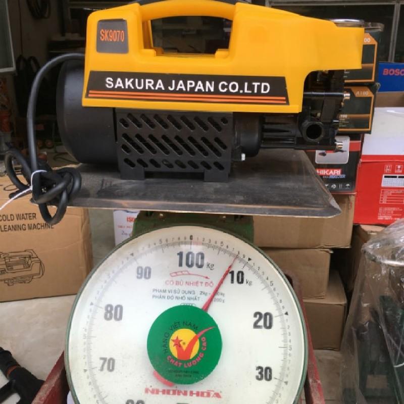 Máy bơm xịt rửa xe áp lực cao Sakura 2500w ,máy bơm xịt rửa xe áp lực cao mini +Tặng bình xà phòng