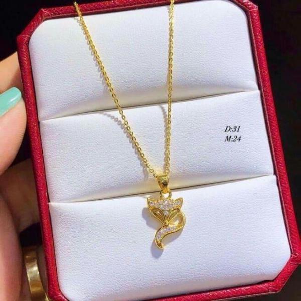 dây truyền mạ vàng non Thái lan 18k
