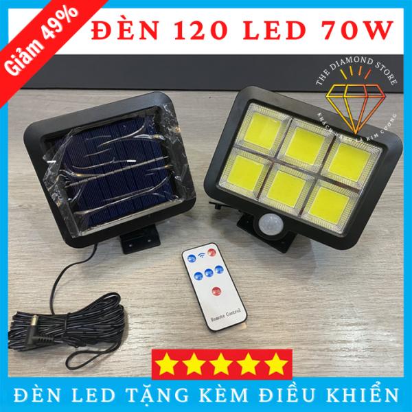 Bảng giá Đèn Năng Lượng Mặt Trời 120 LED Siêu Sáng Siêu Tiết Kiệm Điện Chống Mưa Chống Nước Cảm Biến Chuyển Động Ngoài Ra Tặng Kèm Thêm Điều Khiển Remote