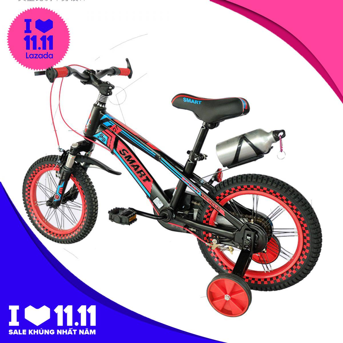 Mua Xe đạp trẻ em 99B - Khung kim loại chắc chắn, yên xe có thể thay đổi độ cao tùy vào lứa tuổi của trẻ, xe trẻ em, Babimart Viet Nam