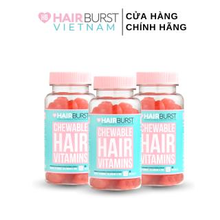 Combo 3 lọ kẹo dẻo vitamin chăm sóc, kích thích mọc tóc HAIRBURST chewable hair vitamins 60 gram 1 lọ thumbnail