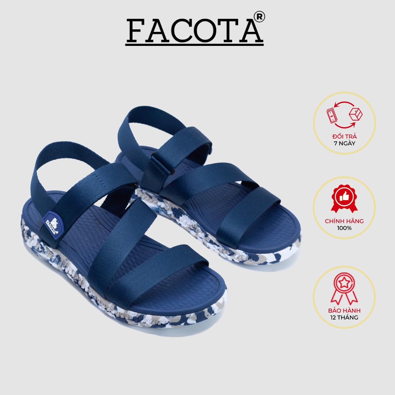 Giày sandal nam Facota HA14 chính hãng sandal thể thao quai dù