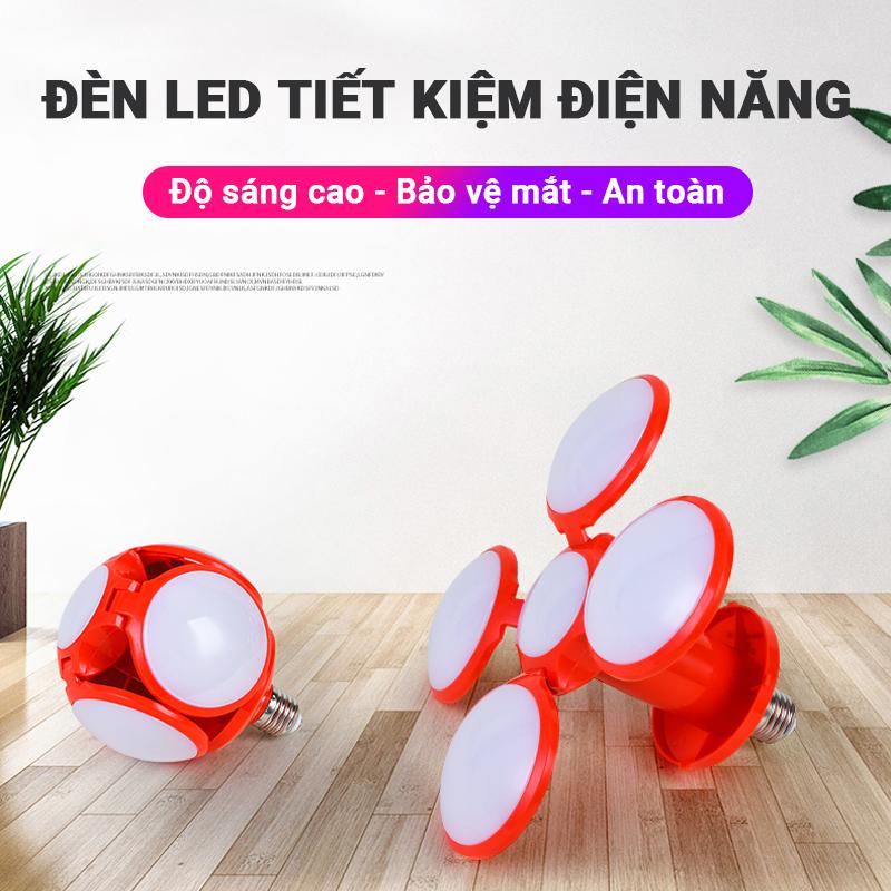 Đèn LED 40W tiết kiệm điện năng, ánh sáng trắng siêu sáng, chất liệu cao cấp cách nhiệt chống nổ, hình quả bóng có thể mở/đóng, chiếu sáng mọi nơi