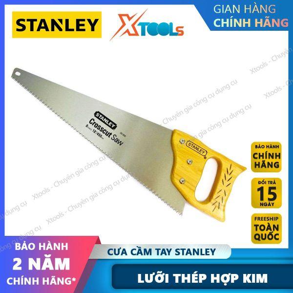 Cưa gỗ cầm tay STANLEY lưỡi làm từ hợp kim thép. Cưa tay lá liễu tay cầm làm từ gỗ độ ma sát cao, răng cưa được vát nhọn sắc bén [XTOOLs] [XSAFE]