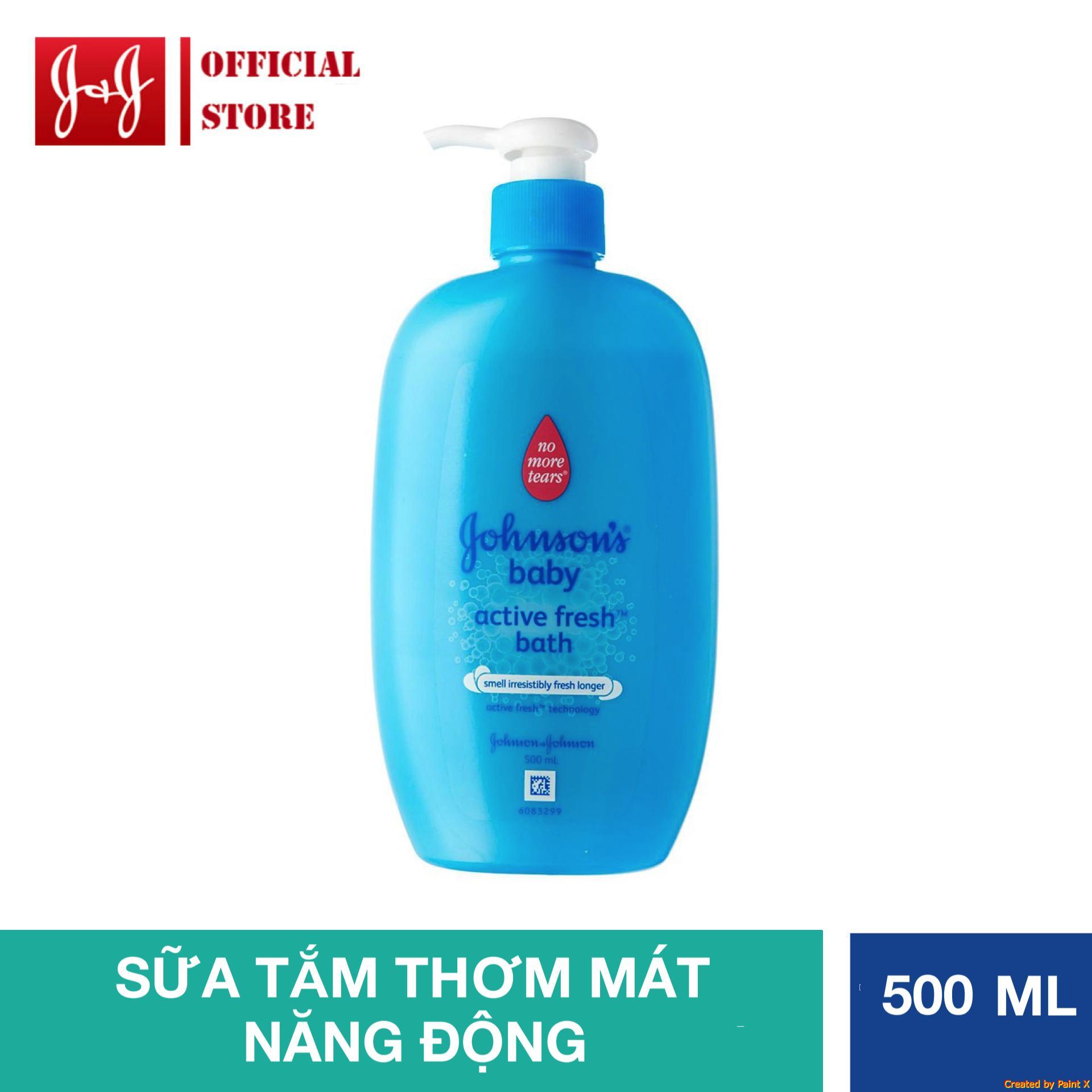 Sữa tắm thơm mát năng động Johnson's Baby 500ml