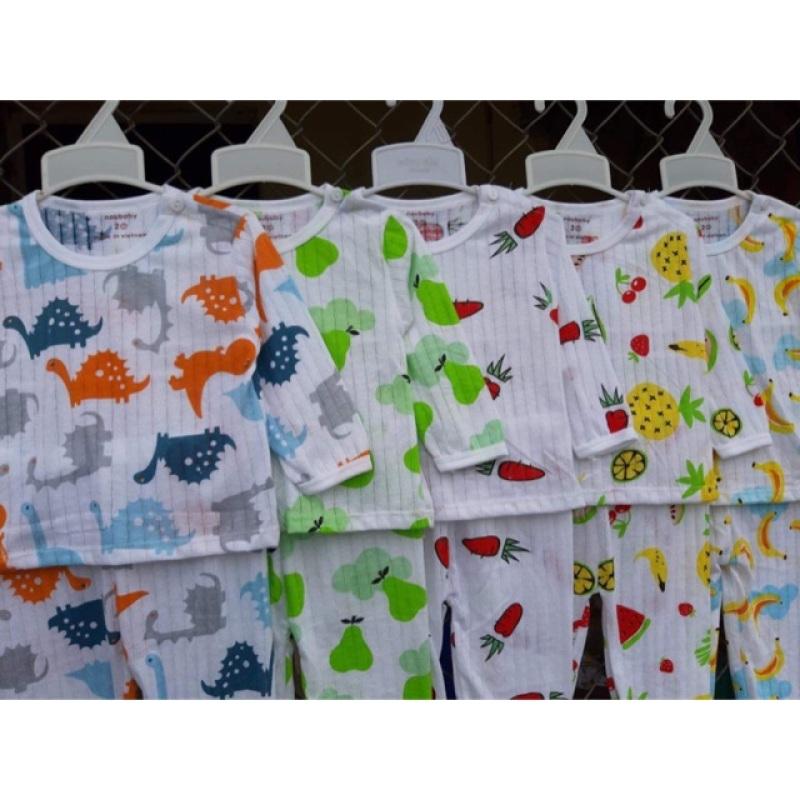 Nơi bán Combo 5 Bộ Cotton Giấy Dài Tay Size 5-7Kg Cho Bé