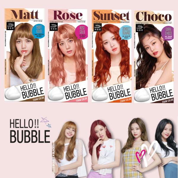 Bọt Gội Nhuộm Tóc Miseen Hello Bubble Foam Color giá rẻ