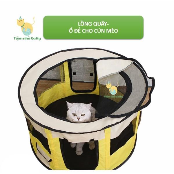 Lồng Quây Đẻ- Ổ Đẻ Cho Chó Mèo- Dễ Dàng Gấp Gọn- Tiện Lợi- Dễ Vệ Sinh