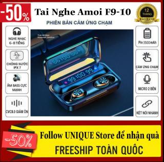 [ Xả Hàng ] Tai nghe bluetooth AMOI f9-10 Phiên Bản Pro Chip 5.0 Bluetooth màn hình LED hiển thị dung lượng pin, có đế sạc dự phòng - Tai nghe bluetooth không dây nhét tai - Tai Nghe Bluetooth Không Dây Hay Hơn i7s, i9s, i11, i12s, amoi F9 thumbnail
