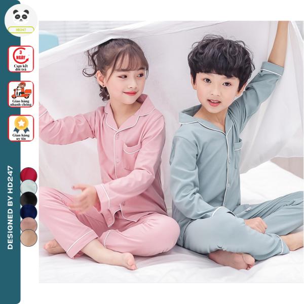 Giá bán đồ bộ pijama mặc nhà cho BÉ TRAI và BÉ GÁI vải kate dày dặn 0193