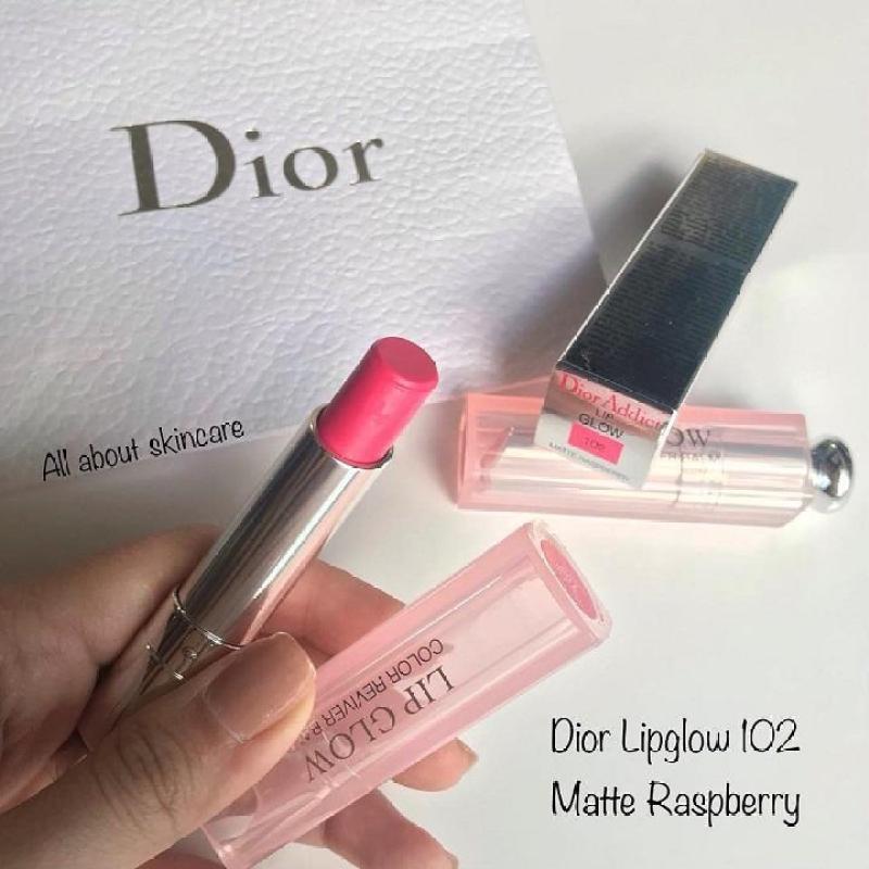Son dưỡng Dior Addict Lip Glow 102 Matte Raspberry màu hồng tím cao cấp