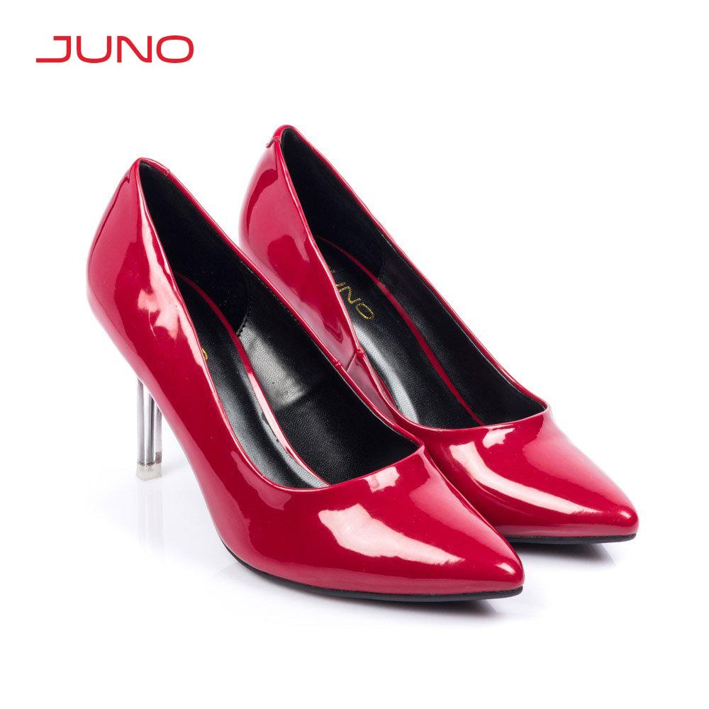 Giày cao gót 9cm mũi nhọn gót trong Juno CG09078