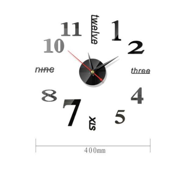Nơi bán Đồng hồ dán tường DIY 40x40 + Pin, số & chữ tiếng anh - Đồng hồ treo tường - Nhiều mẫu - DH76