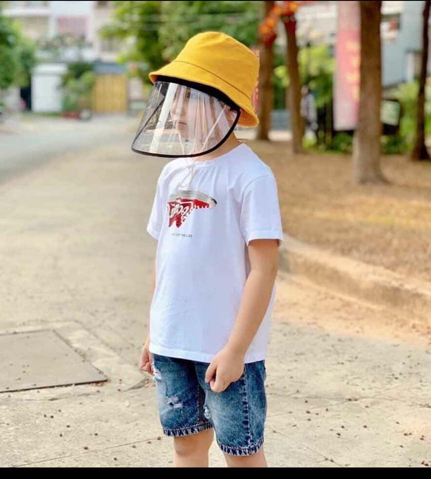 Nón chống dịch,chống bụi Khóa rời, cho trẻ em bé 3-7 tuổi nhập khẩu