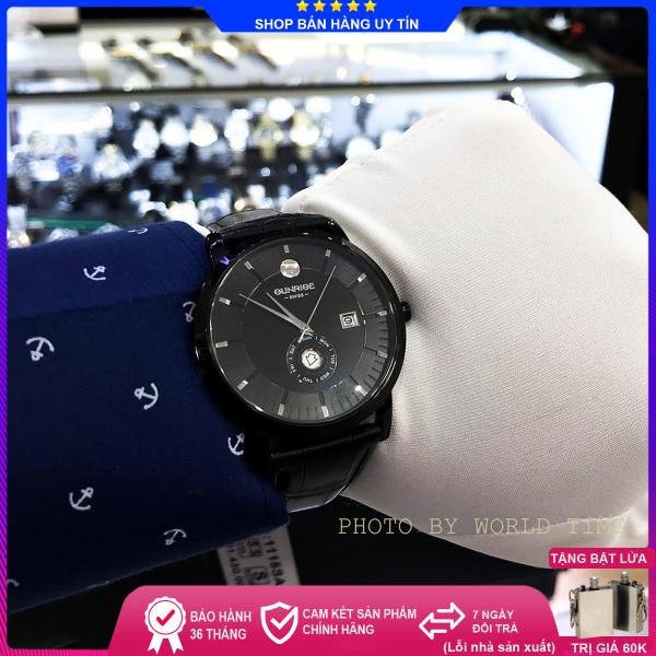 Đồng hồ Nam Sunrise 1115SA Full hộp, thẻ bảo hành, kính Sapphire chống xước, chống nước