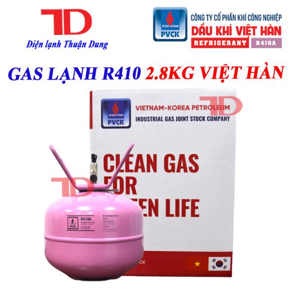 GAS LẠNH ĐIỀU HÒA R410a 2.8KG VIỆT HÀN, MÔI CHẤT LẠNH ĐIỀU HÒA R410a, GAS LẠNH R410a 2.8KG