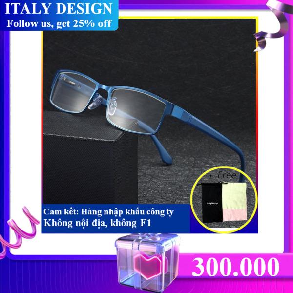 Giá bán Kính nhập khẩu ITALY DESIGN GỌNG SIÊU DẺO MẪU L016 (độ +100)