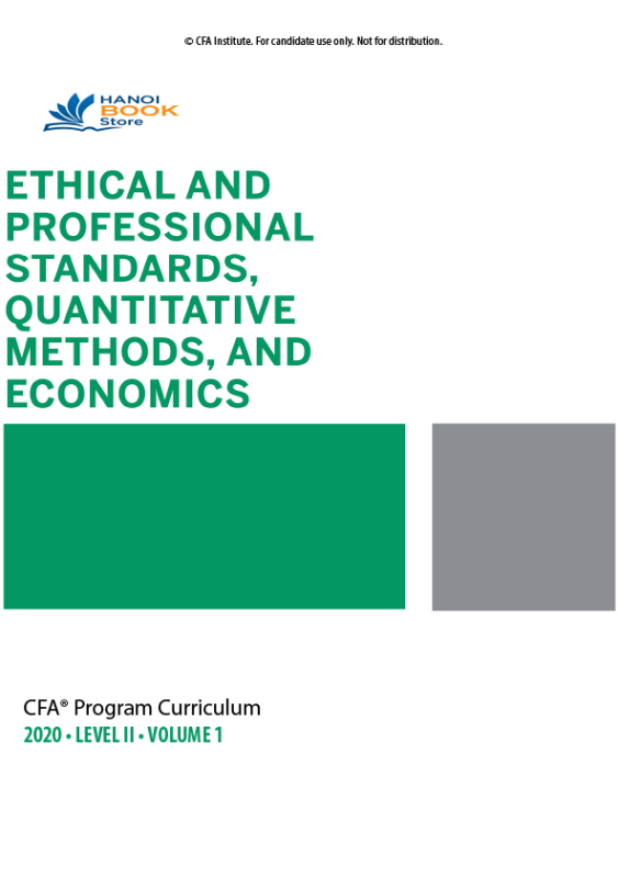 CFA 2020 Program Curriculum Level 2, Volume 1  tặng kèm Schwesers Quicksheet - Hanoi bookstore