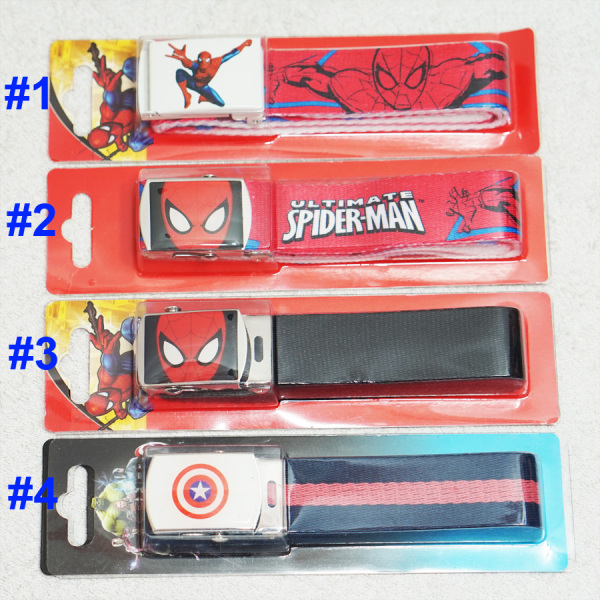 Giá bán Dây nịt ( dây nịch dây lưng) bé trai hoạt hình người nhện