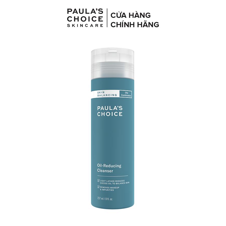 Sữa Rửa Mặt Cân Bằng Độ Ẩm Và Kiềm Dầu cho da dầu, da hỗn hợp Paula's Choice Skin Balancing Oil Reducing Cleanser 237ml