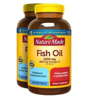 Nature Made Viên Uống Dầu Cá Bổ Sung Omega3 1200mg Fish Oil Omega 3 200 Viên Mỹ thumbnail