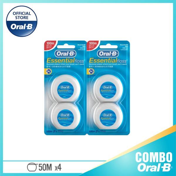 Combo 2 Chỉ Nha Khoa Oral-B Essential Menthol 100M (50m x 2)