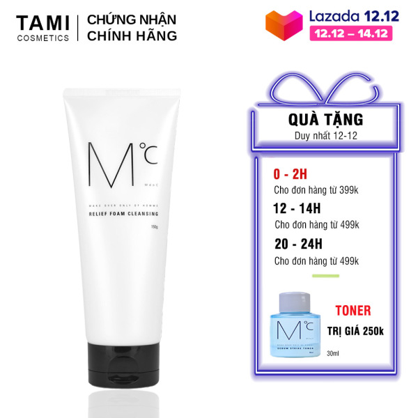 Sữa rửa mặt nam loại bỏ bã nhờn MdoC Relief Foam Cleansing 150g TM-MRM03
