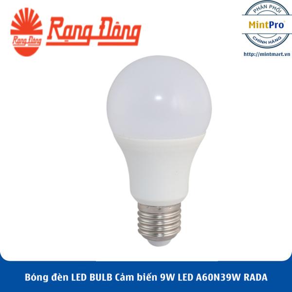 Bóng đèn LED BULB Cảm biến 9W LED A60N3/9W RADA Rạng Đông - Hàng Chính Hãng