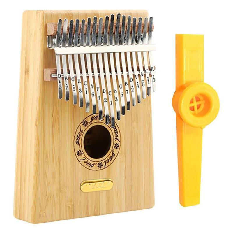 Đàn Kalimba 17 Phím Gỗ Trúc Yael Y17B Kèm Kèn Kazoo DreamMaker - HÀNG CÓ SẴN