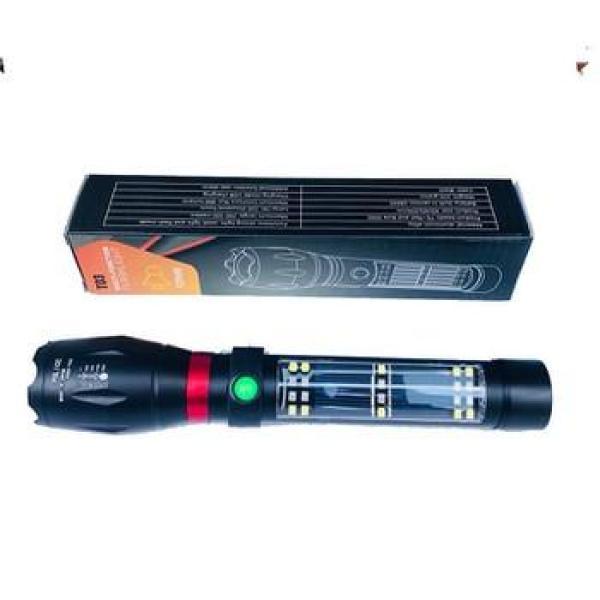 Đèn Pin T03 3 Chế Độ Có Còi Hú Báo Động