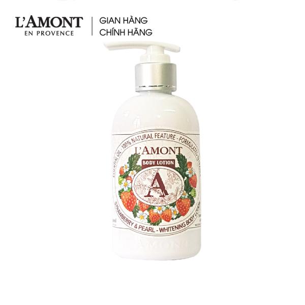 Sữa dưỡng thể Strawberry Whitening Body Lotion (dâu tây) 250ml - Lamont En Provence
