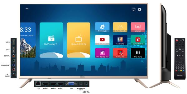 Bảng giá Smart TV Kooda 43inch - K43S6 (Android 8.0) - Tặng kèm Remote thông minh