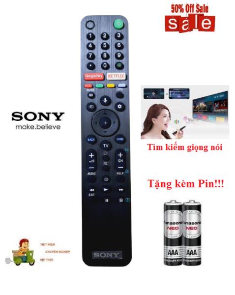 Bảng giá Remote Điều khiển tivi Sony giọng nói RM-TX500P- Hàng mới logo Sony mạ bạc BH 6 tháng Tặng kèm Pin!!!